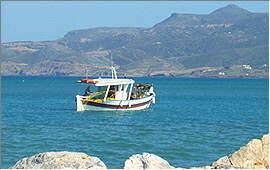 Sitia: Fischfang in der Bucht